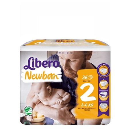 Libero Baby Soft Newborn 2 Frald 3/6 Kgx36