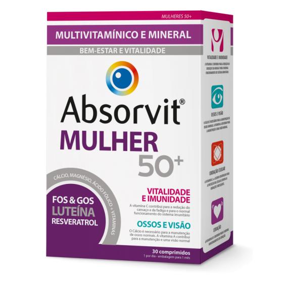 Absorvit Mulher 50+ Comp X30 comps