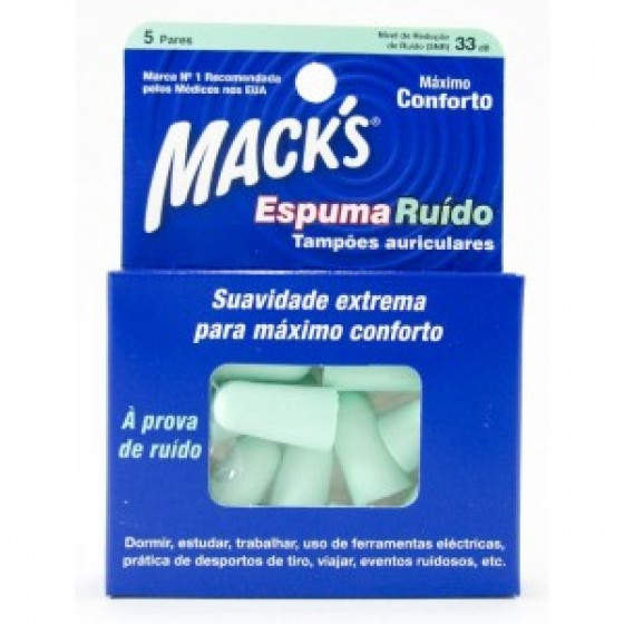Mack S Espuma Ruido Tampao Oto X5