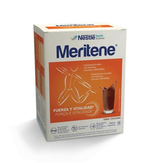 Meritene Chocolat Cart Po X 15