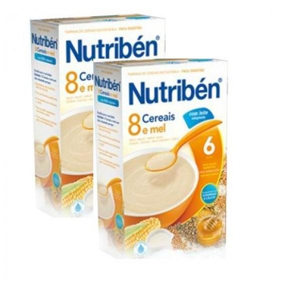 Nutriben Farinhas 8 Cereais Mel 2 X 300g