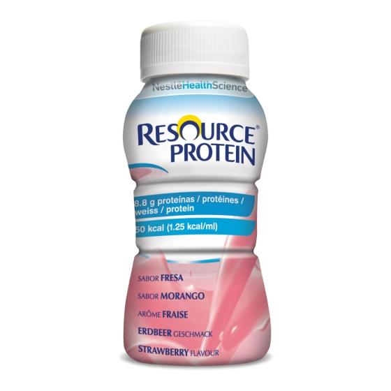 Resource Protein Sol Or Morango 200 Ml X4