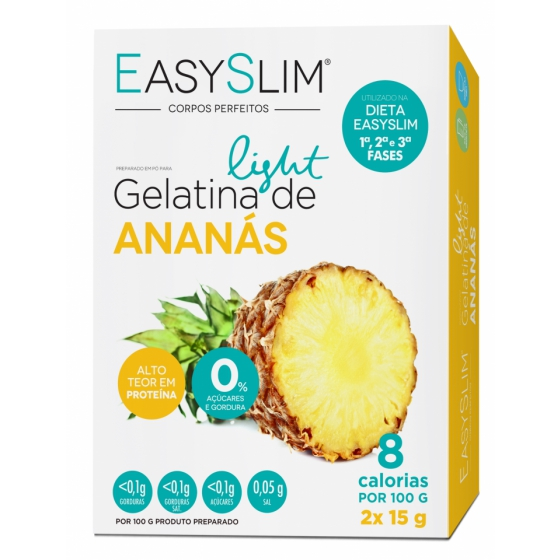 Easyslim Gelatin Saq Gelatina Ananas 15gx2