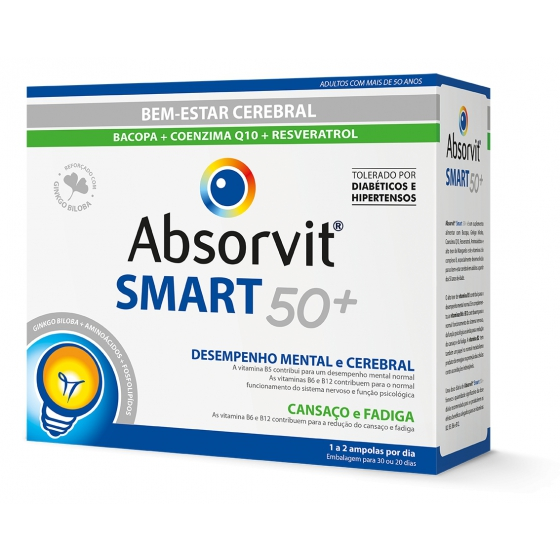 Absorvit Smart50+ Amp 10 Ml X 30 amp beb