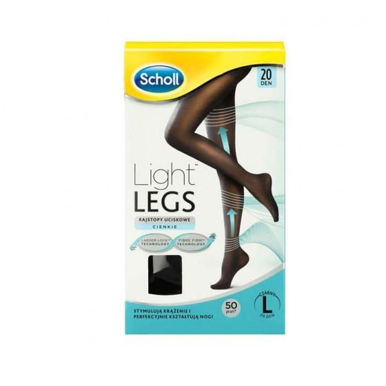 Scholl Light Legs Coll Comp 20den Xl Preto