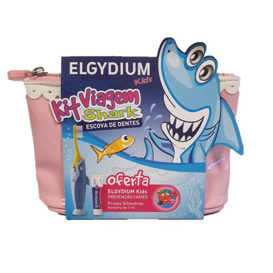 Elgydium Infantil Kit Viagem Kids+Esc Shark