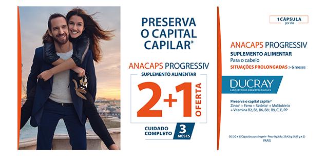 Ducray Anacaps Progressiv Trio cápsula 3 x 30 Unidade(s)